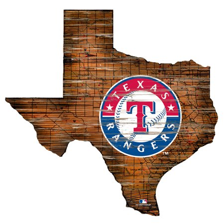 MLB Texas Rangers 12'' Road Map State Cutout Sign