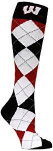 NCAA Wisconsin Badgers Argyle Socks