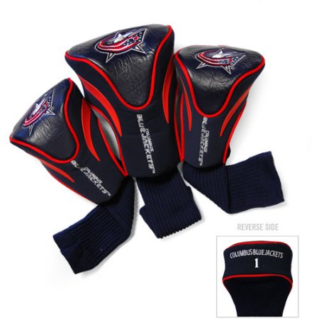 NHL Columbus Blue Jackets 3 Pack Contour Head Covers
