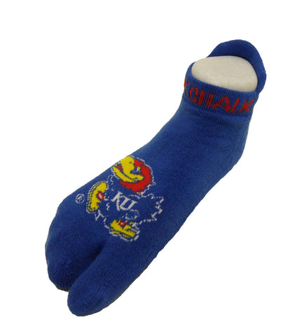 NCAA Kansas Jayhawks Flip Flop Footie Socks