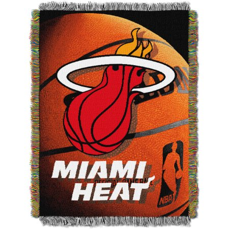 "NBA 48"" x 60"" Photo Real Series Tapestry Throw, Heat"