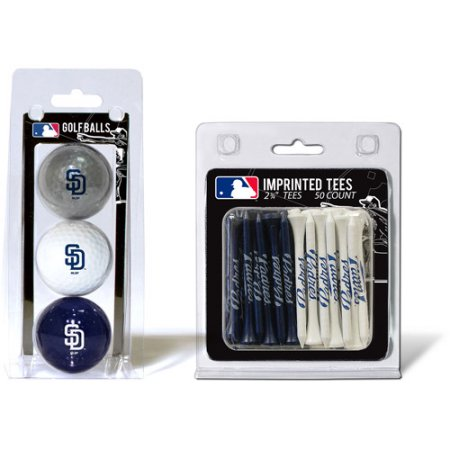 Team Golf MLB San Diego Padres 3 Golf Balls And 50 Golf Tees