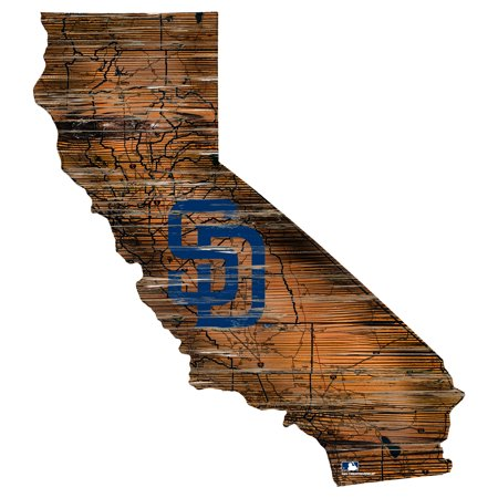 MLB San Diego Padres 12'' Road Map State Cutout Sign