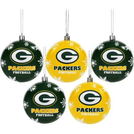 Forever Collectibles NFL 5-Pack Shatterproof Ball Ornaments - Green Bay Packers