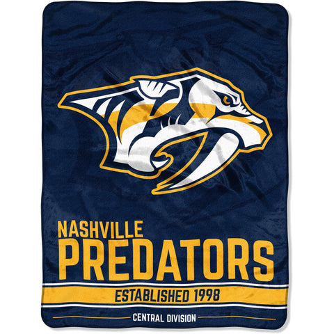 "NHL Nashville Predators ""Breakaway"" 46""x 60"" Micro Raschel Throw Blanket"
