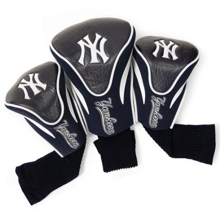 MLB New York Yankees 3 Pack Contour Head Covers