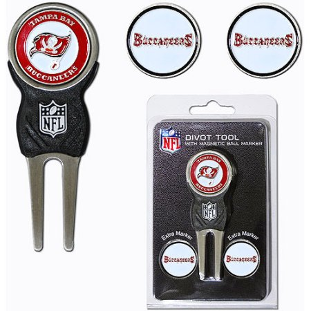 Team Golf NFL Tampa Bay Buccaneers Divot Tool Pack With 3 Golf Ball Markers