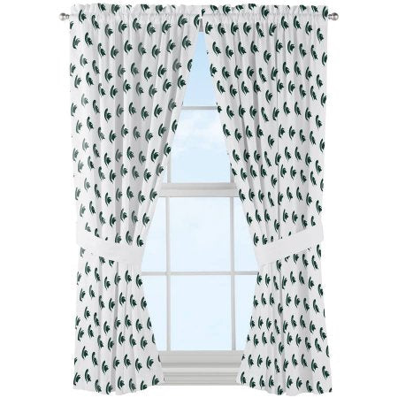 "NCAA Michigan State Spartans ""Mascot"" Window Curtain Panels - Set of 2 - 36"" x 48"""