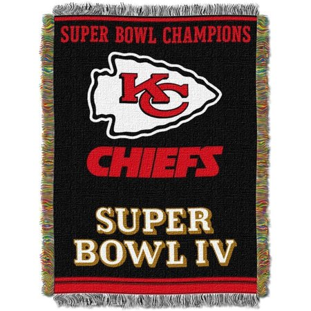 "NFL Kansas City Chiefs 48"" x 60"" Commemorative Series Tapestry Throw Blanket"