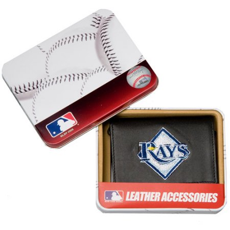 MLB Men's Tampa Bay Rays Diamond Embroidered Trifold Wallet