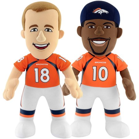 "Bleacher Creatures Dynamic Duo 10"" Plush Figures, Broncos Manning and Sanders"