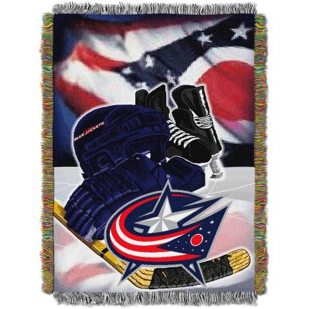 "NHL 48"" x 60"" Home Ice Advantage Series Tapestry Throw, Blue Jackets"