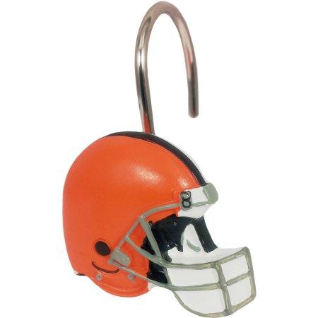 NFL Cleveland Browns Shower Curtain Hooks 12 Piece Set