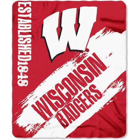 "NCAA Wisconsin Badgers 50"" x 60"" Fleece Throw"