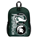 "Michigan State Spartans ""Accelerator"" Backpack and Lunch Bag / Box Set"