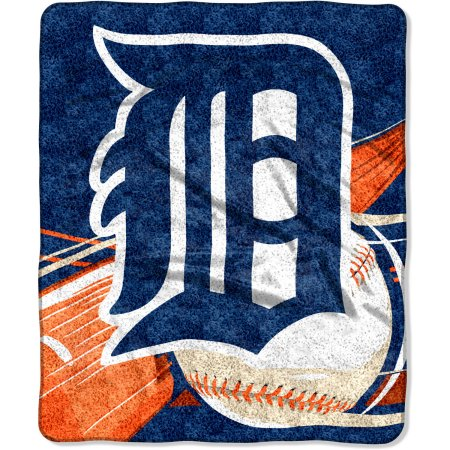 "MLB Detroit Tigers ""Big Stick"" 50"" x 60"" Sherpa Throw"