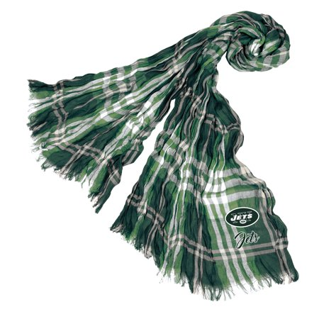 Little Earth - NFL Crinkle Plaid Scarf, New York Jets