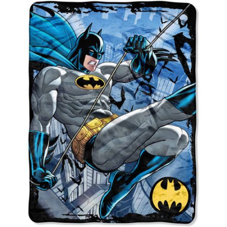 "Batman Rooftop Swing 46"" x 60"" Micro Raschel Throw"