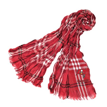 Little Earth - NFL Crinkle Plaid Scarf, Tampa Bay Buccaneers