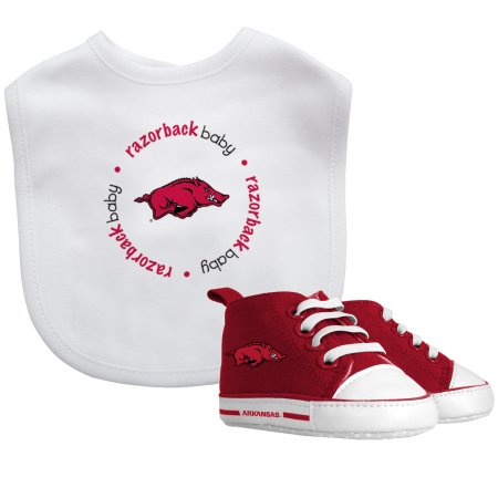 NCAA Arkansas Razorbacks Bib & Prewalker Baby Gift Set