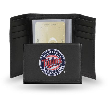 MLB Men's Minnesota Twins Embroidered Trifold Wallet