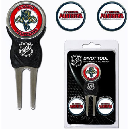 Team Golf NHL Florida Panthers Divot Tool Pack With 3 Golf Ball Markers