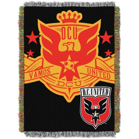 "MLS D.C. United Handmade 48"" x 60"" Woven Tapestry Throw"