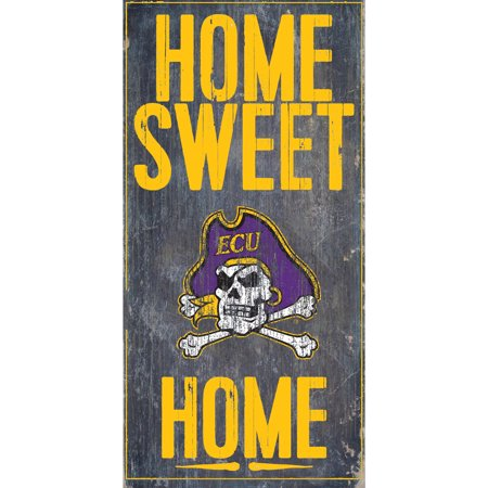 NCAA ECU Pirates 6'' x 12'' Home Sweet Home Sign