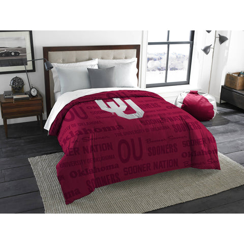 "NCAA Oklahoma Sooners ""Anthem"" Twin/Full Bedding Comforter"