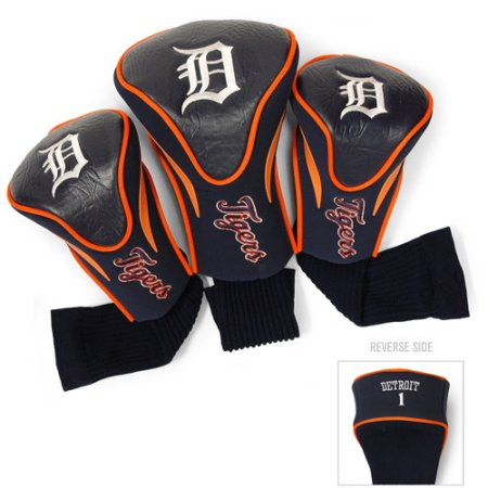 MLB Detroit Tigers 3 Pack Contour Head Covers