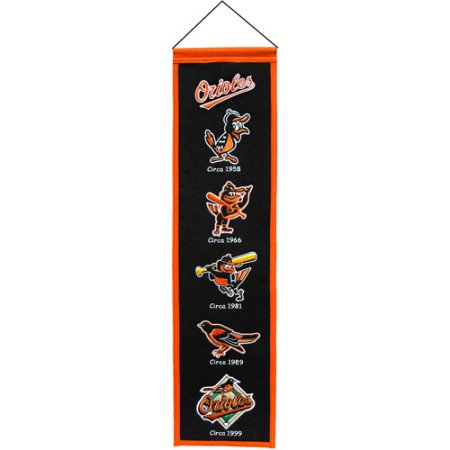 MLB Baltimore Orioles Wool Heritage Banner