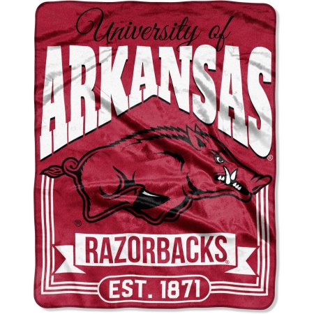 "NCAA Arkansas Razorbacks ""Traction"" 55"" x 70"" Silk Touch Throw"