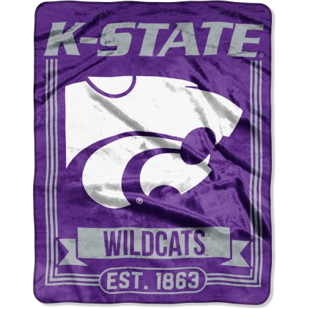 "NCAA Kansas State Wildcats ""Traction"" 55"" x 70"" Silk Touch Throw"