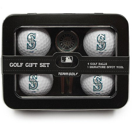 MLB Seattle Mariners 4 Golf Ball And Divot Tool Set