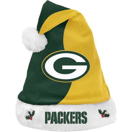 Forever Collectibles NFL Santa Hat, Green Bay Packers
