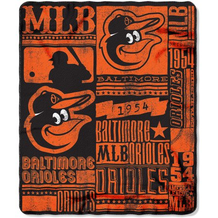 "MLB Baltimore Orioles 50"" x 60"" Fleece Throw"