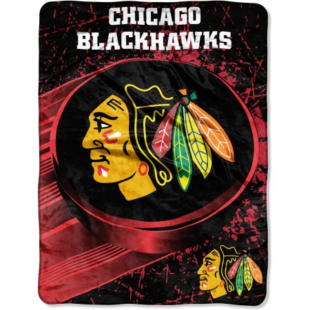"NHL Chicago Blackhawks ""Ice Dash"" 46"" x 60"" Micro Raschel Throw"