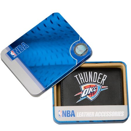 NBA Men's Oklahoma City Thunder Embroidered Trifold Wallet