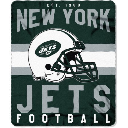 "NFL New York Jets ""Singular"" 50"" x 60"" Fleece Throw"