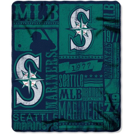 "MLB Seattle Mariners 50"" x 60"" Fleece Throw"