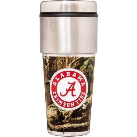 NCAA Alabama Crimson Tide 16 oz Mossy Oak Camo Travel Tumbler
