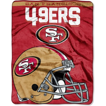 "NFL San Francisco 49er's ""Drawback"" 55"" x 70"" Silk Touch Throw"