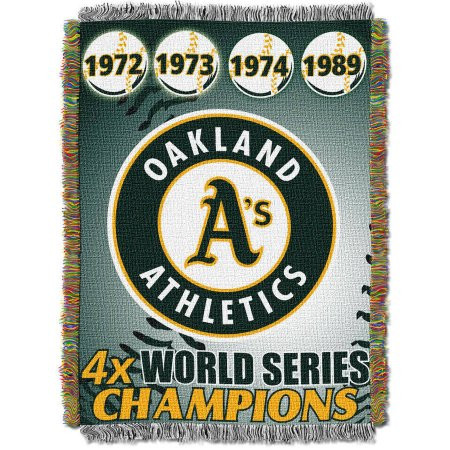"MLB 48"" x 60"" Commemorative Series Tapestry Throw, Athletics"
