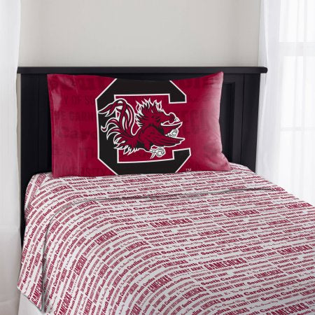 "NCAA South Carolina Gamecocks ""Anthem"" Twin Sheet Set"
