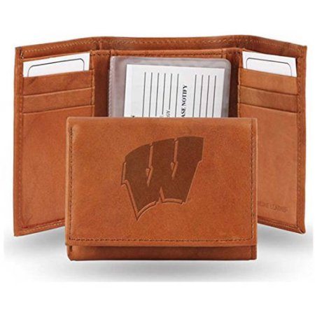 NCAA Wisconsin Badgers Embossed Leather Trifold Wallet