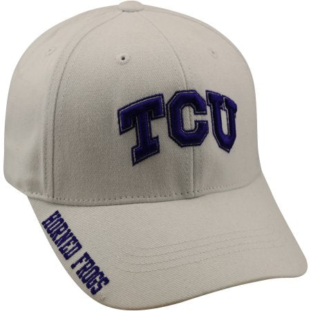 NCAA Men's TCU Horned Frogs White Hat \ Cap