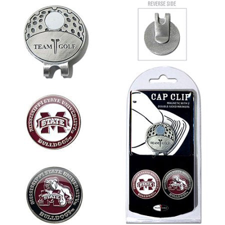Team Golf NCAA Mississippi State Bulldogs Cap Clip With 2 Golf Ball Markers