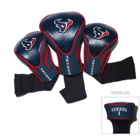 Team Golf NFL Houston Texans 3 Pack Contour Head Covers