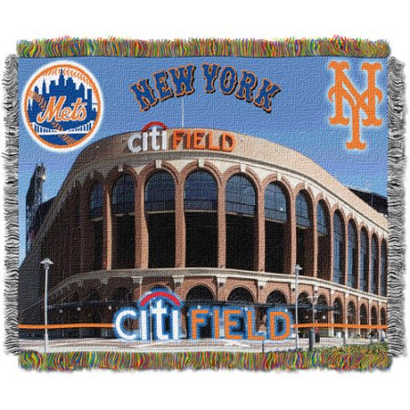 "MLB 48"" x 60"" Stadium Series Tapestry Throw, New York Citi Field Stadium"