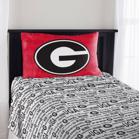 "NCAA Georgia Bulldogs ""Anthem"" Twin Sheet Set"